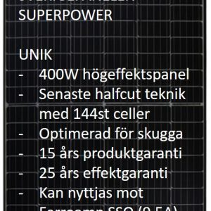 SVERIGEPANELEN SUPERPOWER 400W