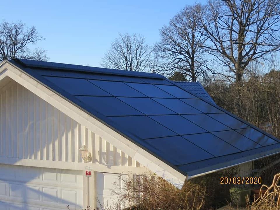 SMART SOLAR ROOF byggnadsintegrerat solcellstak BIPV